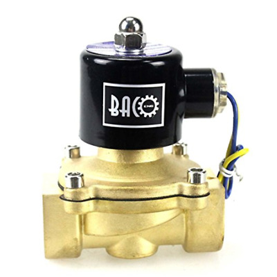 "NEW BACOENG 1"" DC12V Electric Solenoid Valve (NPT, Brass, Normally Closed)"