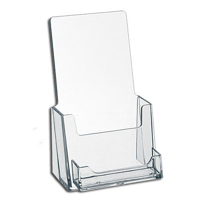 2 Clear Acrylic Brochure Holders with Business Card Holder  *FREE SHIP*
