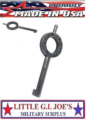 Handcuff Key Smith & Wesson 31136 Stainless Standard Double Lock Handcuff Key