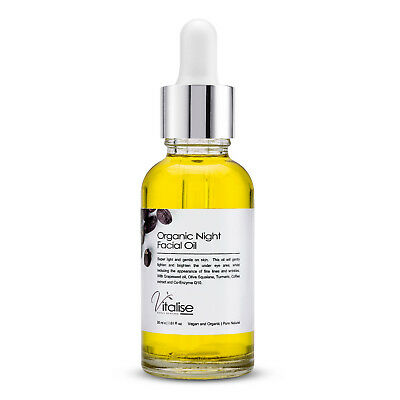 Natural Pro Night Facial Oil Skin Treatment Anti-Aging lines & Wrinkles