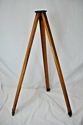 "Vintage Wooden Tripod~Lightweight~Adjustable 30""-56""~Camera / Surveyor~Lamp Base"