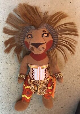 "13"" Disney Presents Simba The Lion King Broadway Musical Plush Dolls Toys"