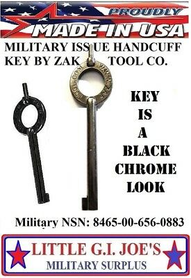 ZAK Handcuff Key Mfg For The Military/Police NSN:8465-00-656-0884 ( YOU GET 1)