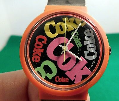 Coke Coca Cola Swatch Watch 1980s Retro Rare
