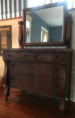 Antique Dresser with Mirror, Empire