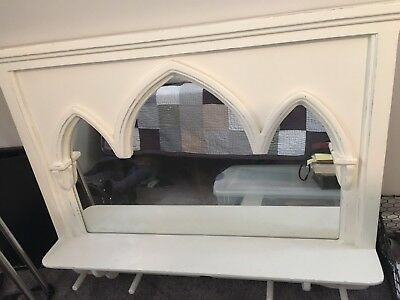 Large white shabby chic/french vintage mirror $70
