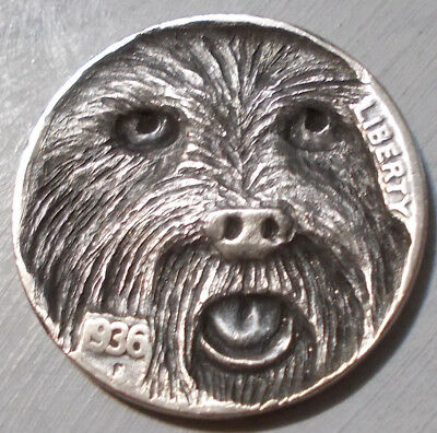 Hobo Nickel, Miniature Metal Carving, Always Ready
