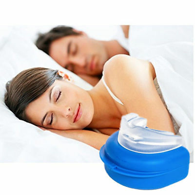 Anti Snore Aid Gum Shield Teeth Guard Dental Mouth Grinding Bruxism Night Tray