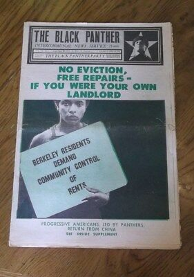 BLACK PANTHER PARTY NEWSPAPER ~ Volume VIII,  #5  April 22, 1972 ~ See Pics!