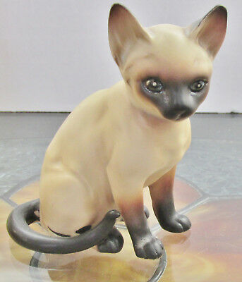 Siamese Cat Figurine Lefton Japan