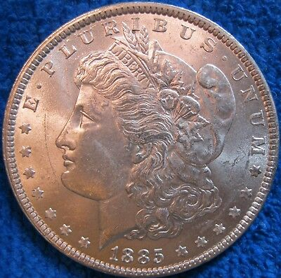 Beautiful Unc 1885 Morgan Silver Dollar Sharp Details Nice Luster!!!
