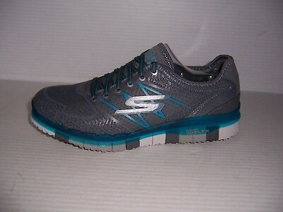 wholesale outlet sale usa online offer discounts SKECHERS GO FLEX Momentum Womens Charcoal/ Blue Lace Up ...