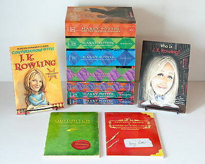 Lot of 11 (#1-7 plus) HARRY POTTER Paperback Series Set of Books by J.K. Rowling