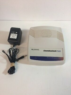 Command Communications ComSwitch 7500 Phone/Fax/Modem Switch w/ Power Adapter