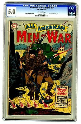 All-American Men of War #17 CGC 5.0 VINTAGE DC Comic Frogman Stories Begin 10c