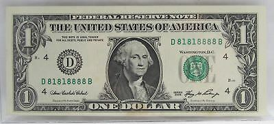 2006 Binary Poker Repeater Serial Number $1.00 Note Choice AU C651