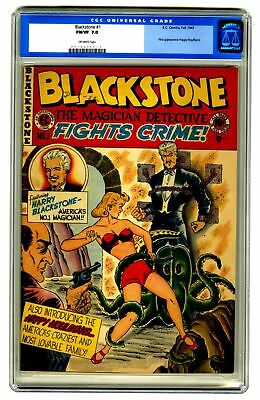 Blackstone #1 CGC 7.0 VINTAGE EC Comic Magician Detective OLD LABEL Crime