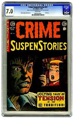 Crime SuspenStories #27 CGC 7.0 VINTAGE EC Comic Horror MILE HIGH II Last Issue