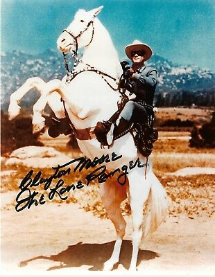 8x10 autographed photo of Clayton Moore The Lone Ranger