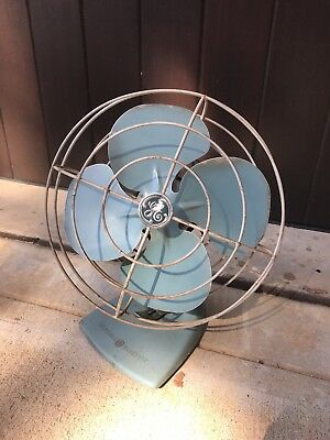 General Electri Blue Metal Fan