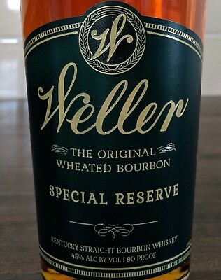 """""""Empty"""" W.L Weller Special Reserve. Bottle only. Sealed, No Alcohol"""