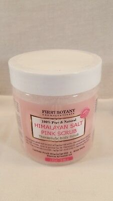 First Botany 100% Natural Pink Himalayan Salt Scrub Lychee Oil Sweet Almond 12oz