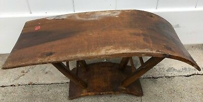 Old Antique Chinese Wooden Horseback Table with Wax Seal