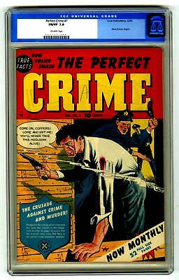 The Perfect Crime #7 CGC 7.0 VINTAGE Cross Pub Gunfight Cover Gold 10c OLD LABEL
