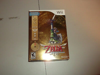 The Legend of Zelda: Skyward Sword Gold Remote Bundle! Limited sealed game L@@K!