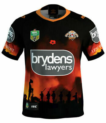 Wests Tigers NRL 2018 Commemorative Anzac Jersey Adults & Kids Sizes! In Stock!
