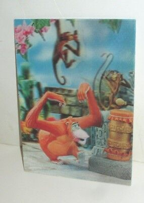 Vintage Disney W.c Jones 1966 3-D Postcard King Louie & Monkey Jungle Book Japan