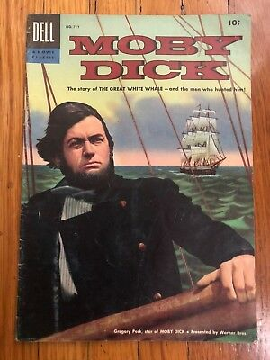 Moby Dick Four Color Comics #717 FN- 1956 Dell Gregory Peck Movie Edition Golden