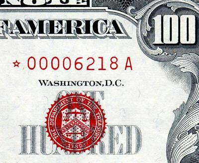 HGR SUNDAY 1966 $100 RED Seal ****RARE Star**** Appears GEM UNCIRCULATED