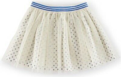 Girls Mini Boden Girls 'Spotty' Tulle Skirt W/ Blue Band Size 9-10 Y