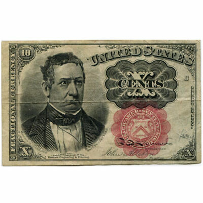 Fractional Currency 10 cents 1874 Fifth Issue FR#1265-1266 F-VF