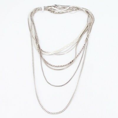 Sterling Silver - Lot of 10 Rope Link Chain Necklaces NOT SCRAP - 57g