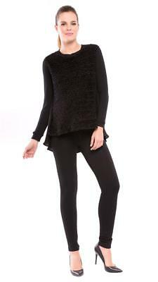 """Brand New! Olian $57 """"lucy"""" Stretch Jersey Maternity Leggings In Black Size M"""