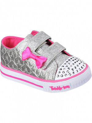 fdbb2e8b4eac New Girls  Skechers 10600N Twinkle Toes Starlight Style Light Up Shoes ...