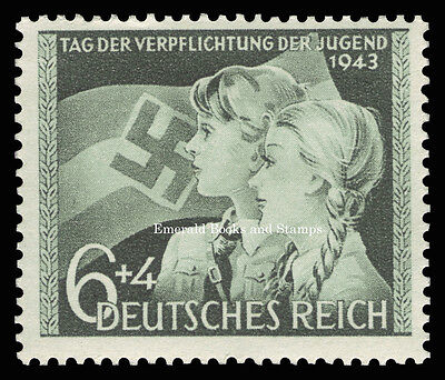 EBS Germany 1943 Hitler Youth Day of Allegiance to Hitler Michel 843 MNH**