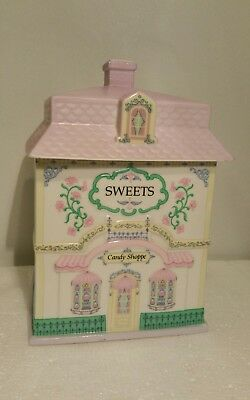 The Lenox Village Canister Collection Candy Shoppe Sweets Fine Porcelain 1992
