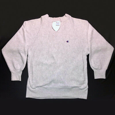 VTG 1990s CHAMPION REVERSE WEAVE SWEATSHIRT PULLOVER FLEECE MENS M L XL GRAY USA