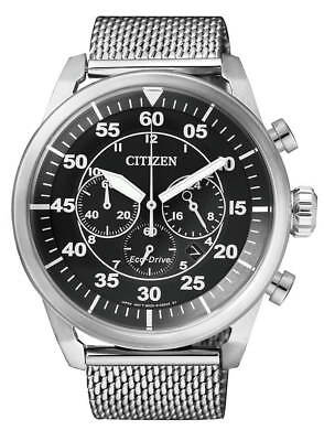 Citizen Mens Stainless Steel Eco-Drive Chronograph Watch 100WR. CA4210-59E