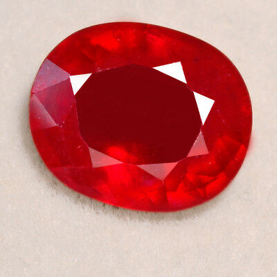 7CT Natural Mozambique Pigeon Blood Red Ruby Faceted Cut UQHB85