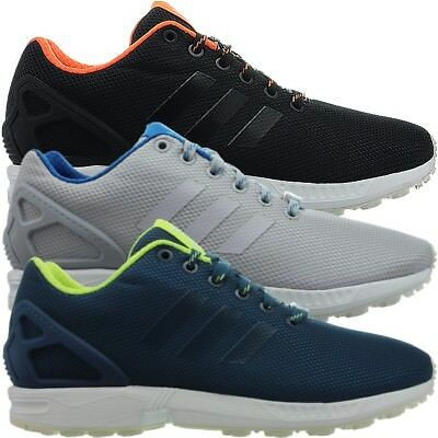 half off c5ca2 b22ae Adidas ZX Flux men s sneakers black gray blue casual running shoes NEW