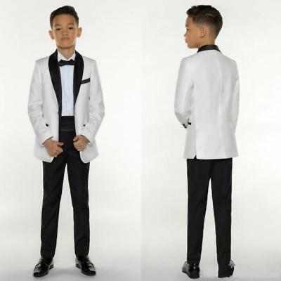 Jacket & Pants Page Boy Wedding Party Formal Tuxedo School Boy Perform Show Suit