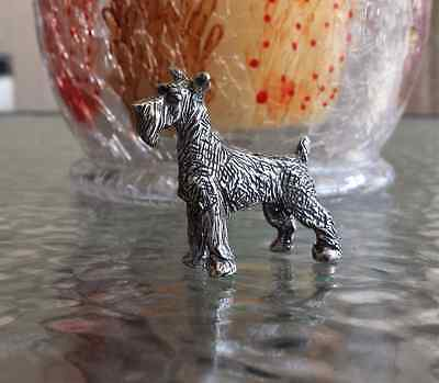 HOUSE PET JEWELRY 1 SCHNAUZER DOG THREE DIMENSIONAL STATUE PEWTER All New.
