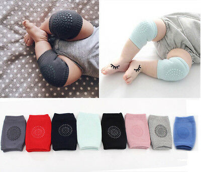 Kids Infant Baby Boy Girl Crawling Knee Pads Leg Warmers Anti-slip Elbow Cushion