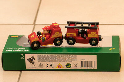 Brio Travel Train, Fire Engine, Clever Crane Wagon