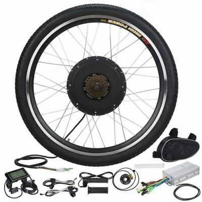 "26"" 1000W Rear Wheel LCD Meter Electric Bicycle E Bike Motor Conversion Kit HY"