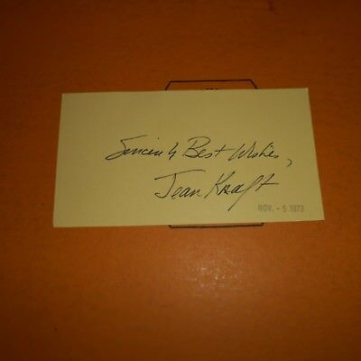 Jean Kraft is an American operatic mezzo-soprano Hand Signed 1973 Index Card